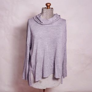 Eileen Fisher Grey Loose Turtleneck Sweater Large